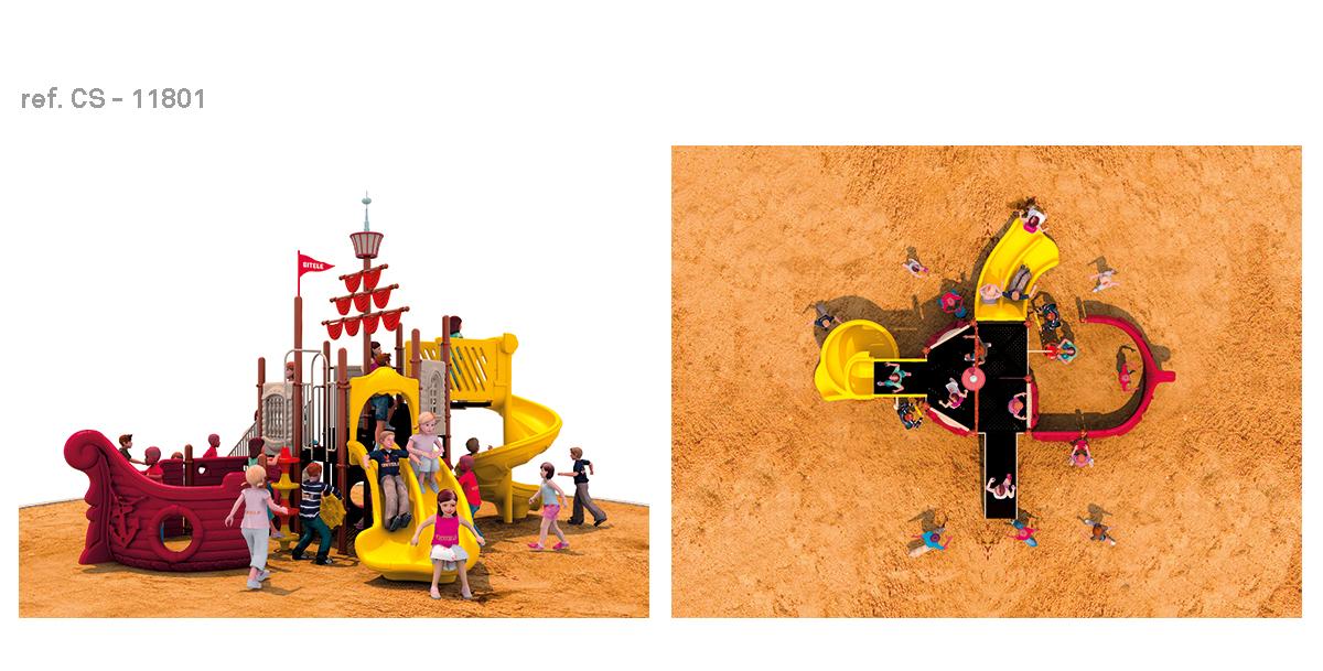 oziona parques infantiles barco pirata CS-11801