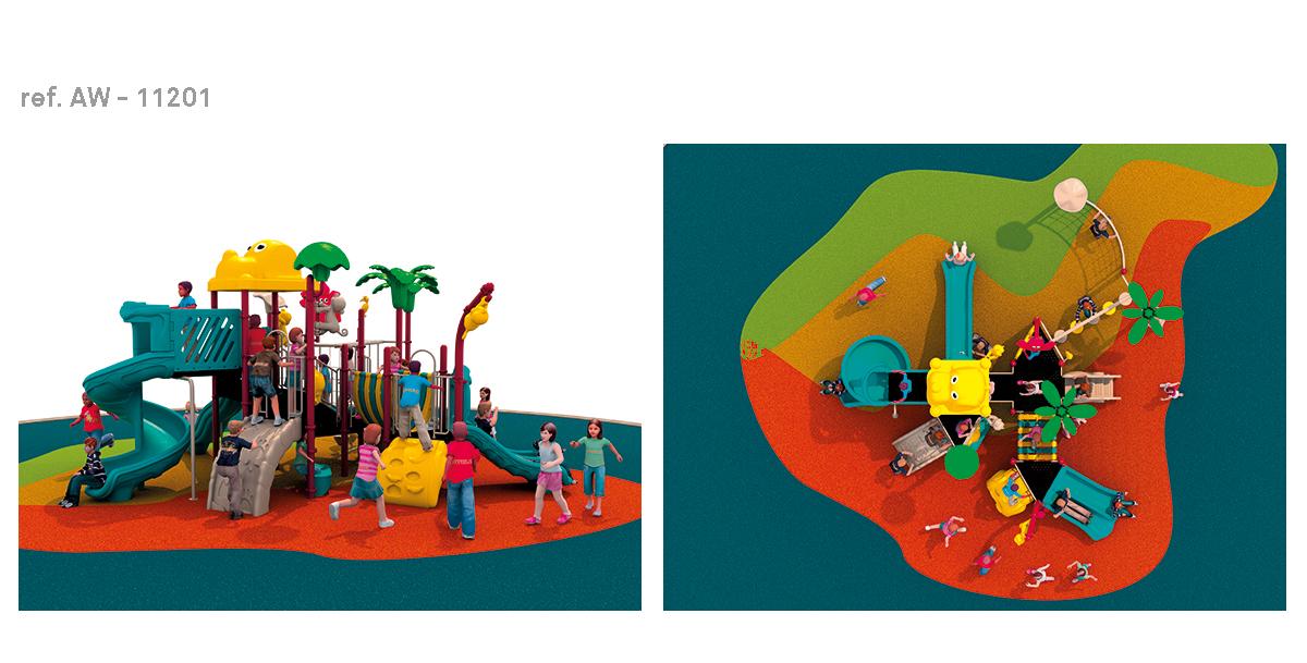 oziona parques infantiles zoológico AW-11201
