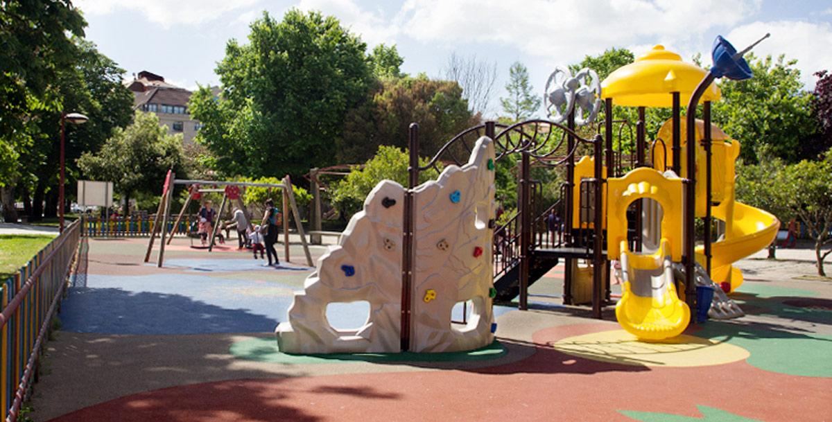 parque infantil en Vilagarcía