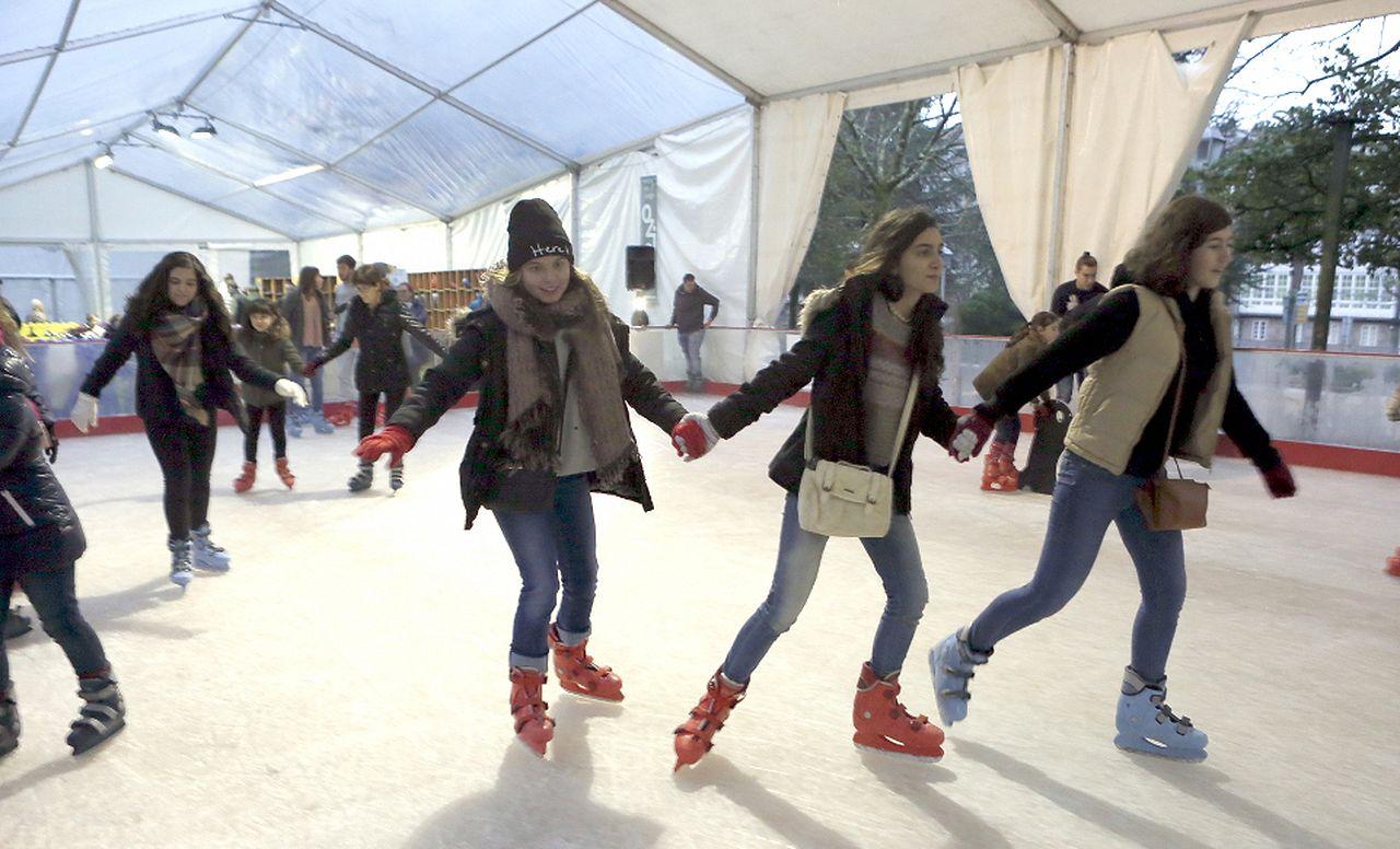 pista de hielo Oziona en Santiago